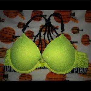 pink victoria secret bra
